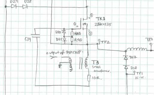 Circuit board sketch